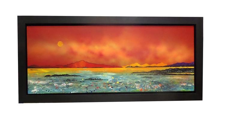 Luskintyre Bay Setting Sun, Isle of Harris, Hebrides, Scotland - original Scottish landscape painting - Image 0