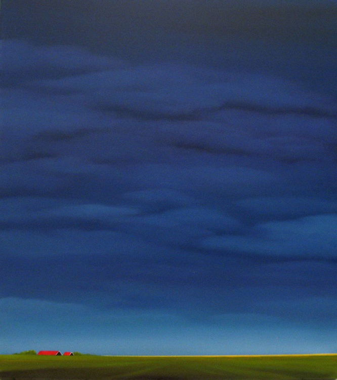 Red roofs, purple evening. - Image 0