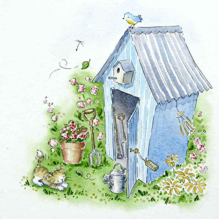 The little blue shed