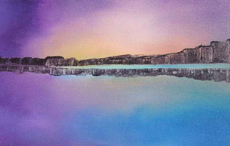 Lakeside, Original Acrylic Painting -