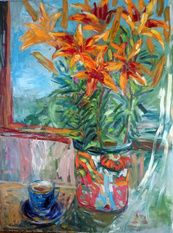 Still life with lilies . - Image 0