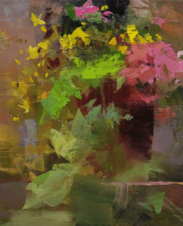 "Abstract floral painting, "" Garden Harvest "" (128sl15) - Image 0"