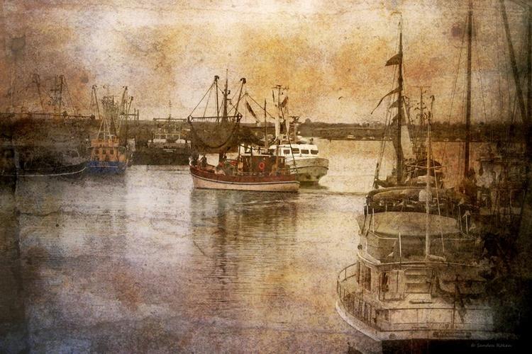 - The harbour of Greetsiel - Canvas 75 x 50 cm - Image 0