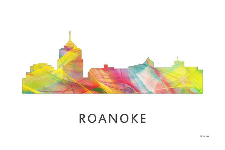 Roanoke Virginia Skyline WB1 -