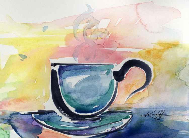 Coffee Dreams No 15 - Original Watercolor