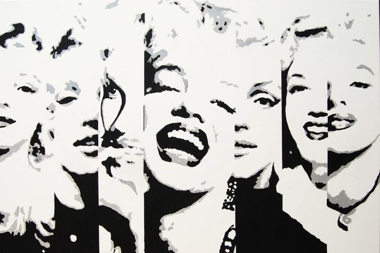 MARILYN  LARGE BLACK AND WHITE PORTRAIT - Image 0