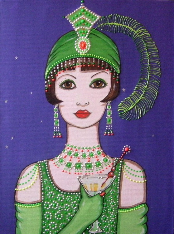 Flapper in green - Image 0