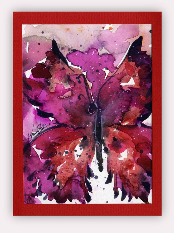 Butterfly Watercolor Painting - Butterfly Delight No. 1 - Image 0