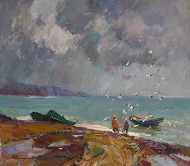Rain over the bay -