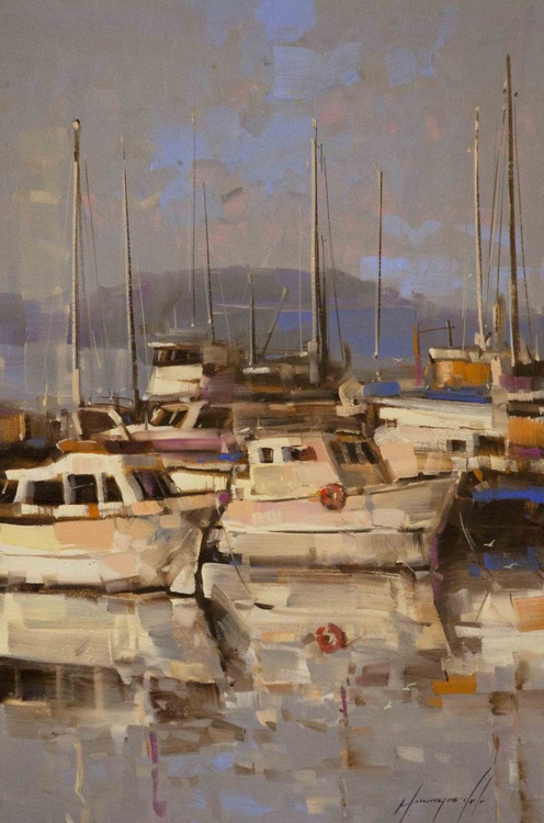 Sail Boats Handmade oil painting - Image 0