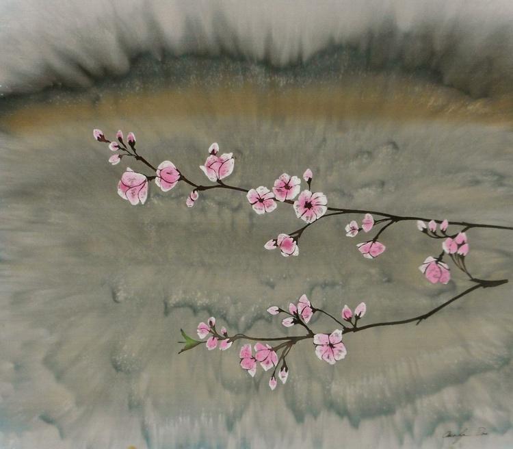 Plum Blossoms in Fog - Image 0