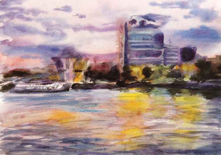 River sunset. etude 2 -