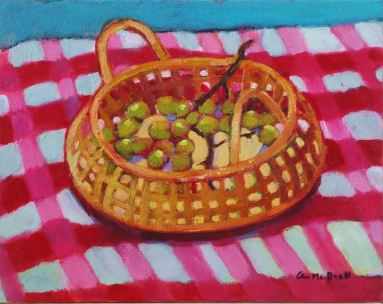 Grapes in Basket -