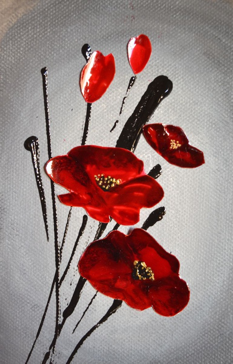 Poppies- A recycled art - Image 0