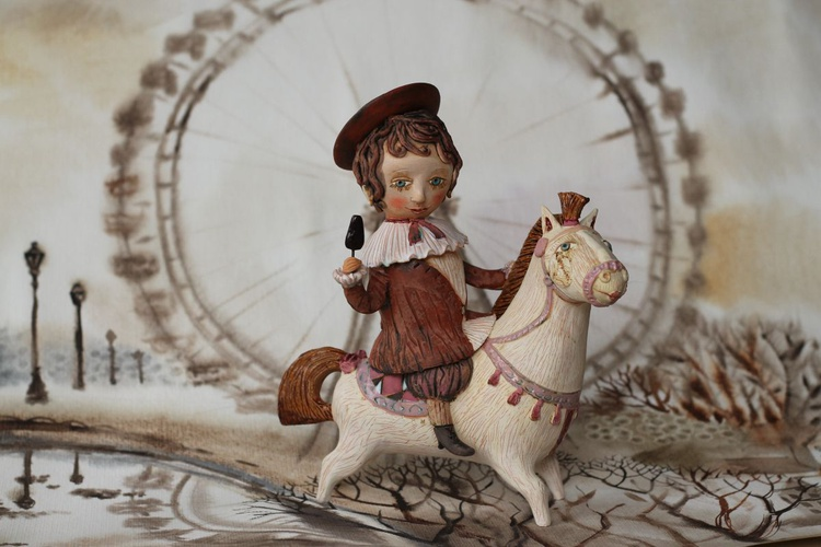 """Boy riding a horse. From """"Le Carousel, Hommage à l'Innocence"""" project by Elya Yalonetski - Image 0"""