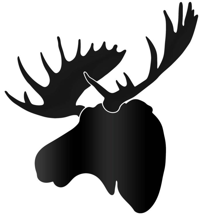 Midnight Moose   Large Pure Black Decor - Image 0