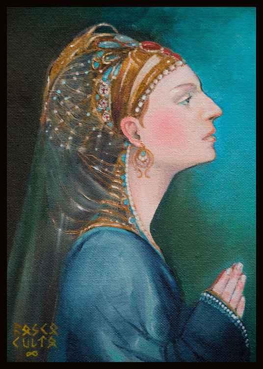 Rich woman prays -
