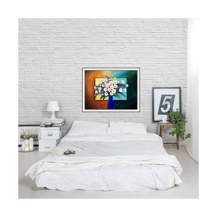 A bouquet of flowers-large abstract painting - Image 0