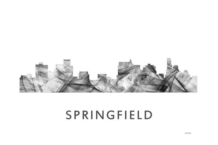 Springfield Illinois Skyline WB BW -