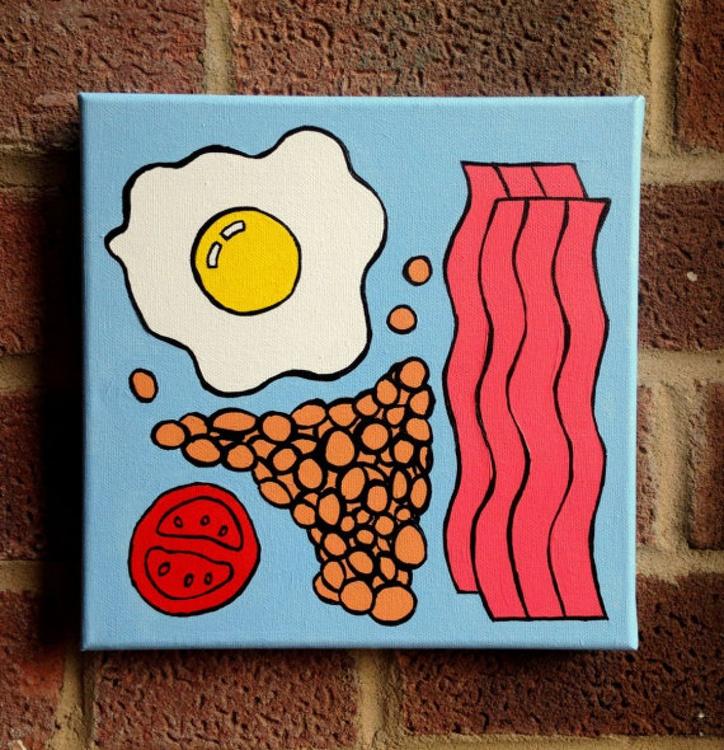 English Breakfast Pop Art Painting Canvas - Image 0