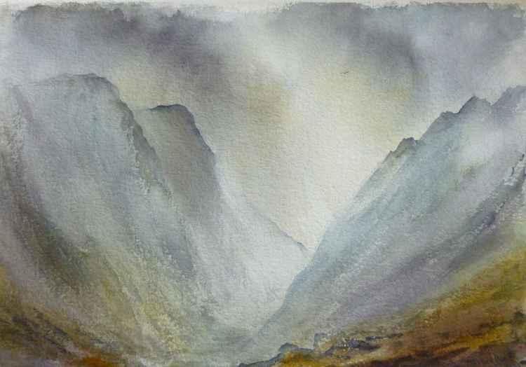 Misty Glen Coe, Scotland -