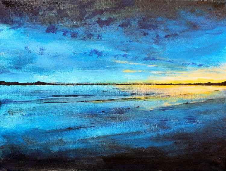 A distant light - Balmedie Beach, Aberdeen, Scotland