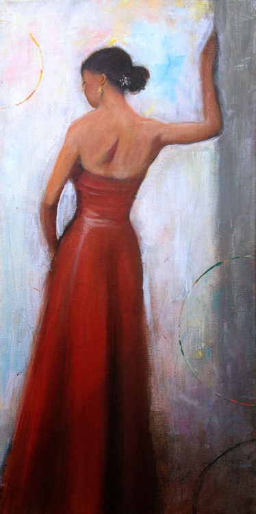 Red Evening Dress - Image 0