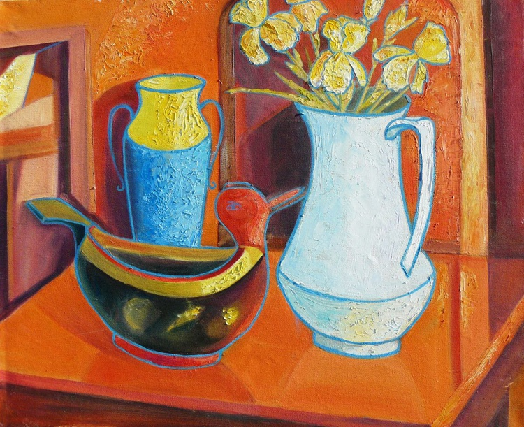 Still life with irises - Image 0