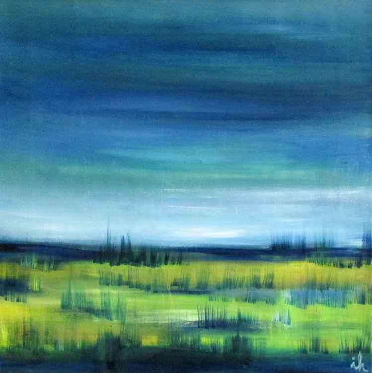 Blue Fields around Pond -