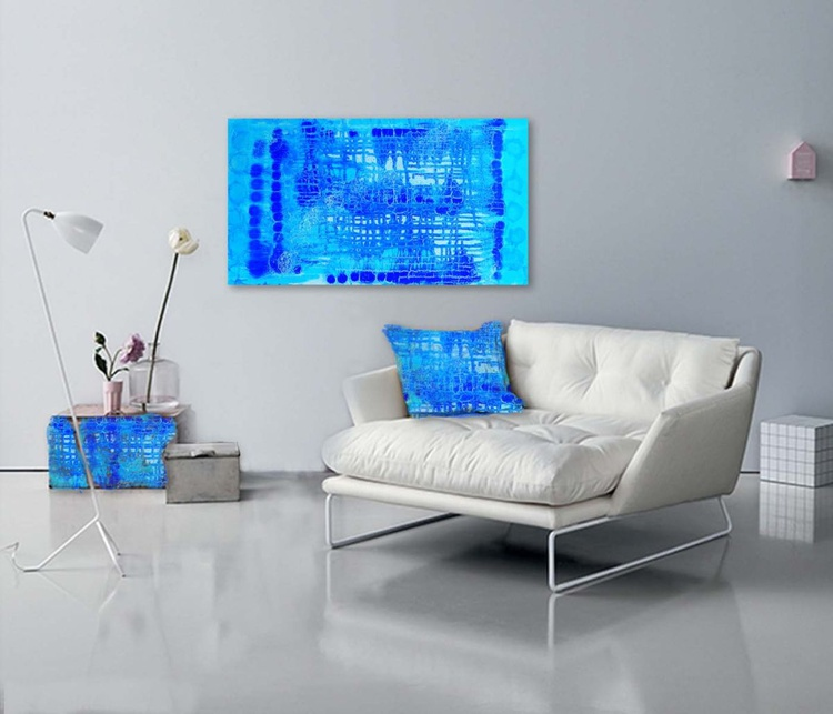ABSTRACT X  - Original Abstract on Gallery Wrapped Canvas - Ready To Hang ONLY £25 - Image 0