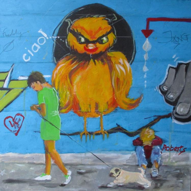 Italian Graffiti 6 - Modern communication - Indifference III - Image 0