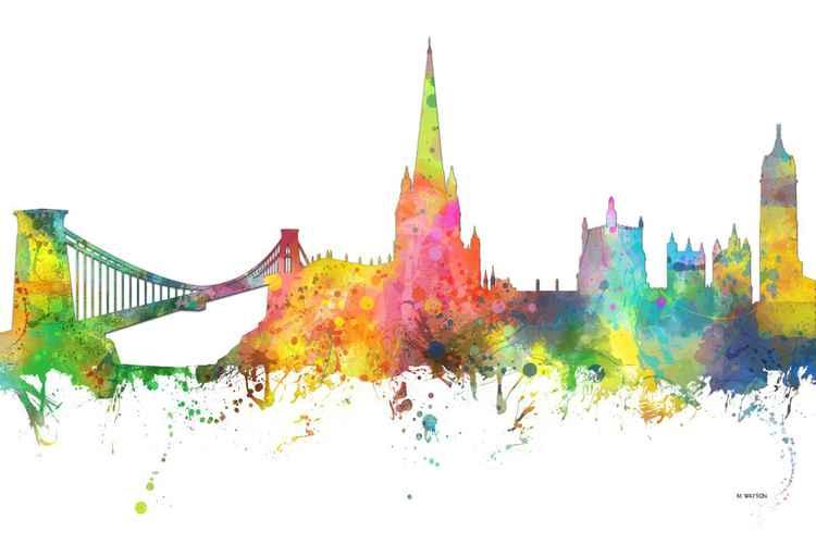 Bristol, England Skyline MCLR1 -