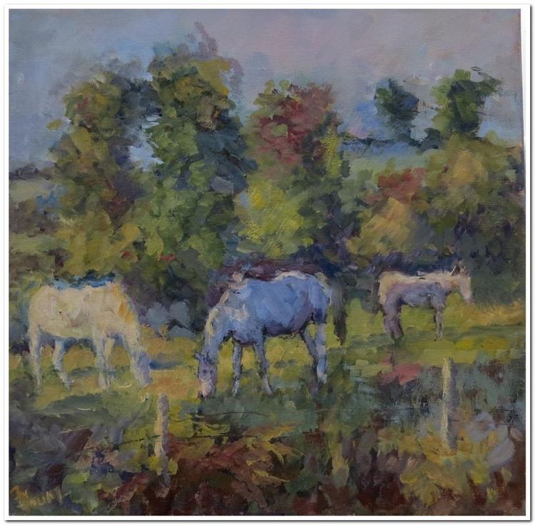 Horses at the bog - Image 0