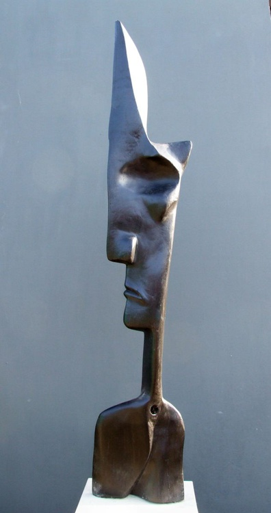 """""""The King"""" Bog Oak wood carving, from the series ----- Fossilized Wood - Image 0"""