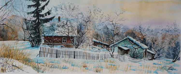 Winter in the village -