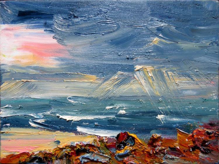 stones and the sea, 24x18 cm - Image 0