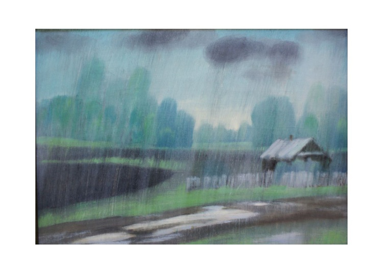"The painting ""rain"". - Image 0"