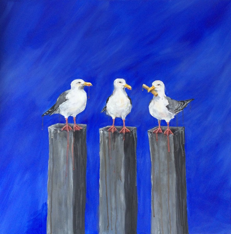 Seagull Chip Envy on Blue - Image 0