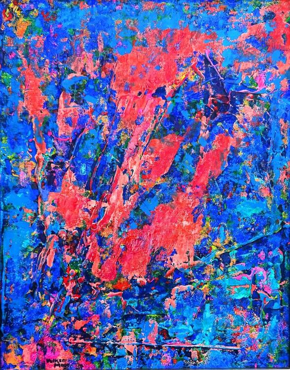 Cool Jazz - abstraktes Ölbild 40 x 50 cm - Image 0