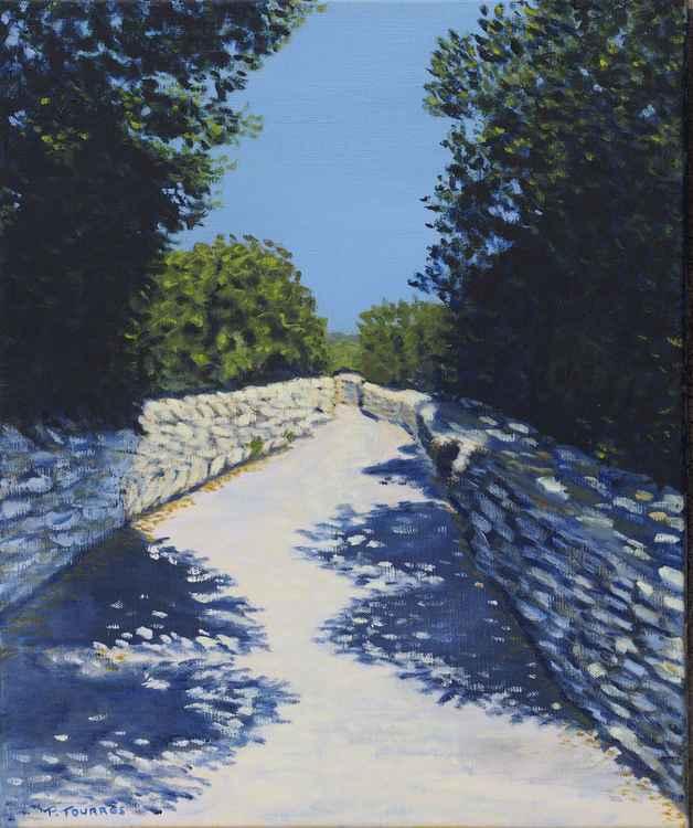 Lane near Gordes in Provence - Chemin prés de Gordes en Provence