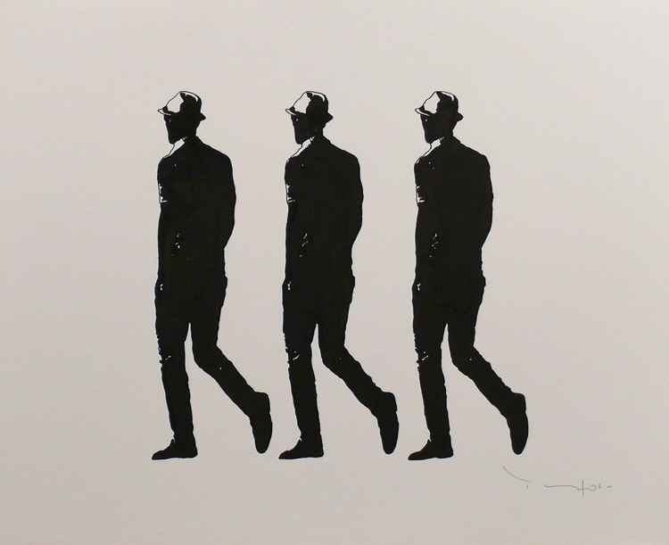 Three walking men- Tehos -