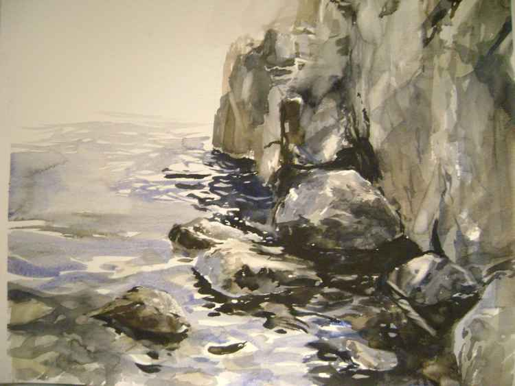 Seascape with rocks 1
