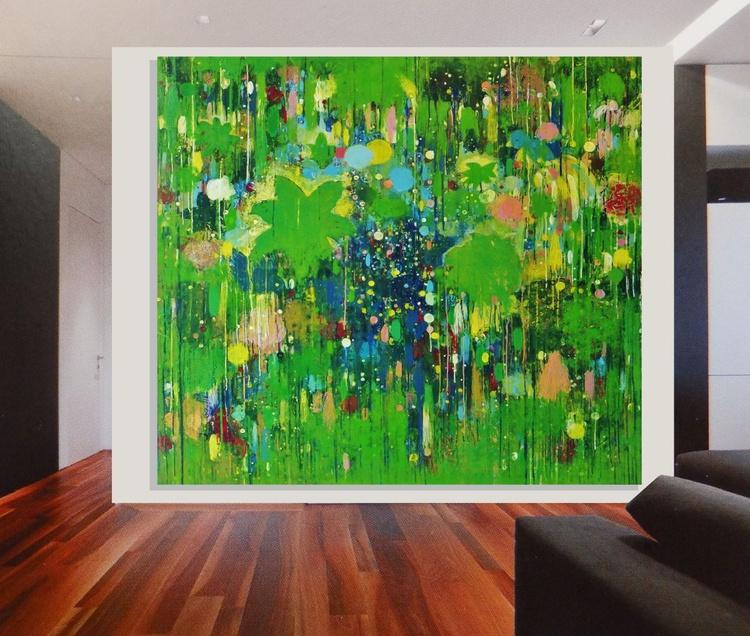 "Original abstract""Way to paradise"" original painting - Image 0"