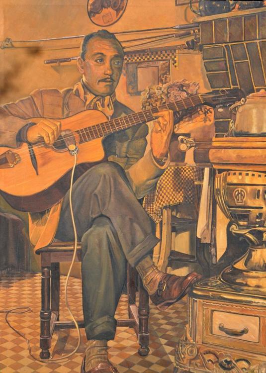 Django Reinhardt In His Kitchen - Image 0
