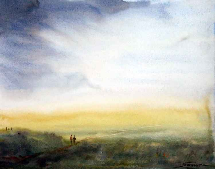 Before Storm - Watercolor Painting -