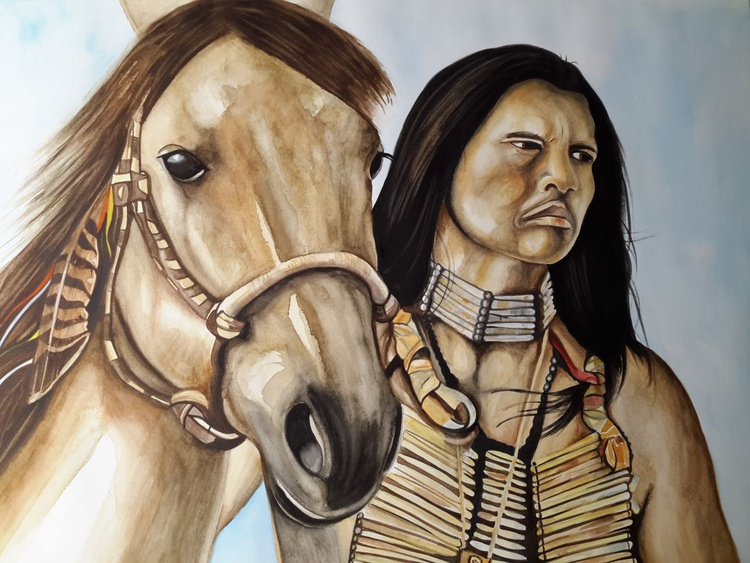 Warrior with Horse - Image 0