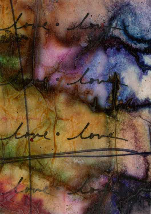 Love Dreams 3 - Mixed Media Art -