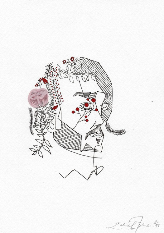 Turning to Flowers - Medium Paper - Image 0