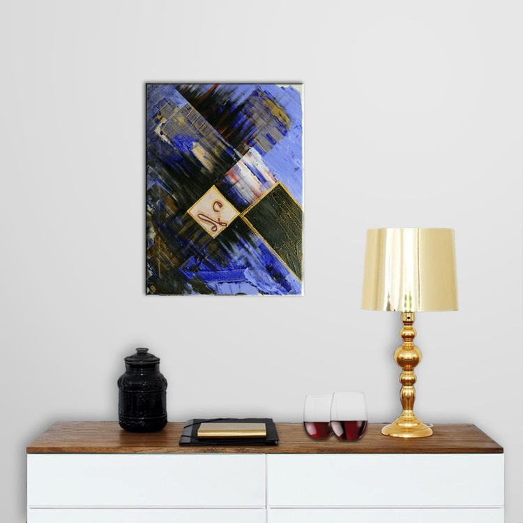 Abstract Home Decor 077 - Original Acrylic Painting on Canvas - Image 0