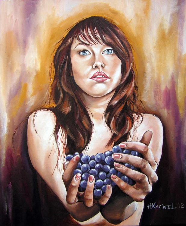 """"""" Girl with grapes """" - Image 0"""